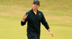 Step in right direction: Rory McIlroy had a promising Open after a poor start