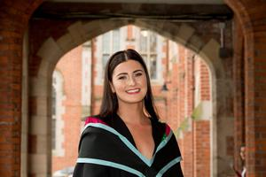 Celebrating graduation success from Queens University Belfast is Orla McAteer, who graduated with a degree in Maths.