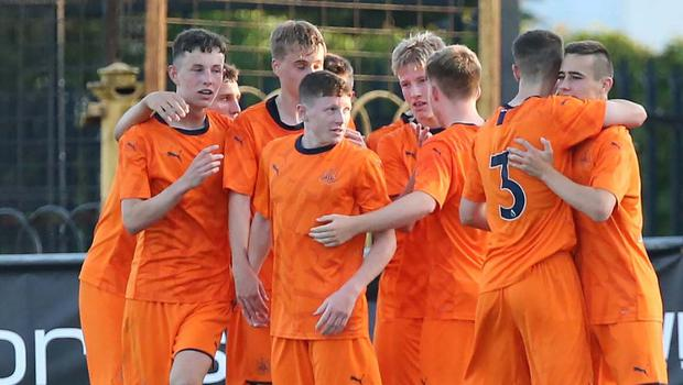 Newcastle United in action at last year's SuperCupNI