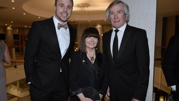 Press Eye - Belfast - Northern Ireland - 20th January  2020  Tommy Bowe,Eleanor and Pat Jennings pictured at the 2019 Belfast Telegraph Sport Awards at the Crowne Plaza Hotel in Belfast. Photo by Stephen Hamilton / Press Eye.