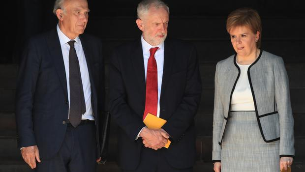 Also attending were Liberal Democrat leader Sir Vince Cable and Scotland's First Minister Nicola Sturgeon (Peter Byrne/PA)