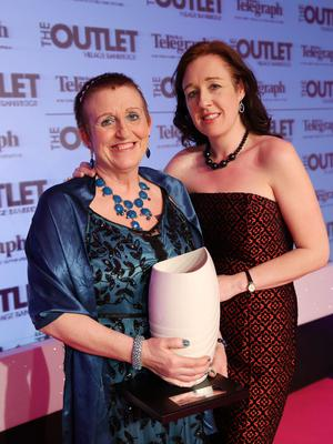 Overall Belfast Telegraph Woman of the Year winner Una Crudden with her daughter Lisa McGarry