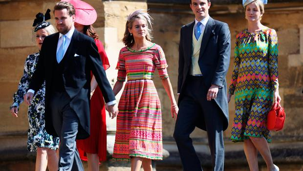 Cressida Bonas arrives for the wedding ceremony of Britain's Prince Harry, Duke of Sussex and US actress Meghan Markle at St George's Chapel, Windsor Castle, in Windsor, on May 19, 2018. / AFP PHOTO / POOL / Chris JacksonCHRIS JACKSON/AFP/Getty Images