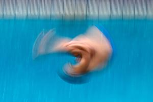 RIO DE JANEIRO, BRAZIL - AUGUST 15:  Andrea Chiarabini of Italy competes in the Men's Diving 3m Springboard Preliminary Round on Day 10 of the Rio 2016 Olympic Games at Maria Lenk Aquatics Centre on August 15, 2016 in Rio de Janeiro, Brazil.  (Photo by Al Bello/Getty Images)