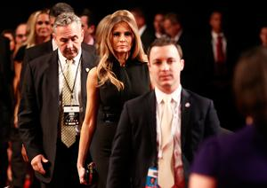 LAS VEGAS, NV - OCTOBER 19: Melania Trump arrives before the start of the third U.S. presidential debate at the Thomas & Mack Center on October 19, 2016 in Las Vegas, Nevada. Tonight is the final debate ahead of Election Day on November 8.  (Photo by Win McNamee/Getty Images)