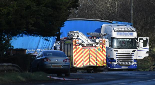 The scene of the crash on the Monaghan Road. Credit: Alan Lewis