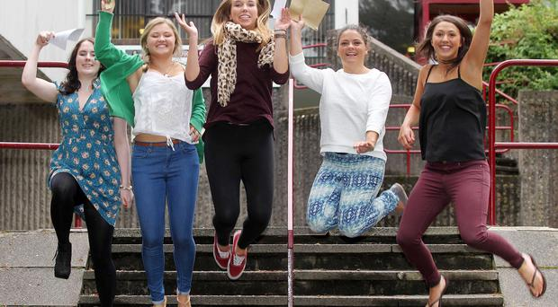Victoria College south Belfast: Left to right. Helen Bennett, Emily Mulls, Sophie Pollock , Sophie McCoo and Rebekah Milligan.