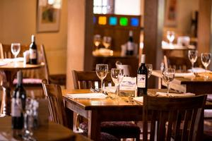 The Mitre restaurant where Irish and continental breakfasts are served each day until 10am.