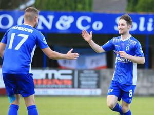Dungannon's Ryan Mayse has been the star man at Stangmore Park.  Photo by David Maginnis/Pacemak er Press