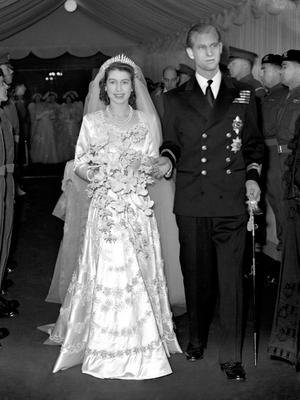 File photo dated 20/11/1947 of Queen Elizabeth II and the Duke of Edinburgh leaving Westminster Abbey after their wedding ceremony. The Duke will no longer carry out public engagements from the autumn of this year, Buckingham Palace has announced. PRESS ASSOCIATION Photo. Issue date: Thursday May 4, 2017. See PA story ROYAL Duke. Photo credit should read: PA Wire