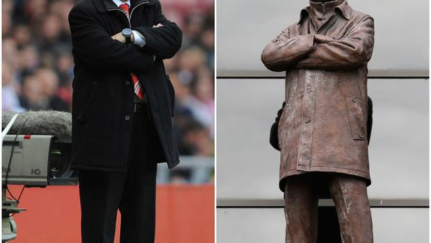 What about Sir Alex Ferguson's statue at Old Trafford? It was unveiled in November 2012, before Ferguson won his 13th Premier League title and retired in 2013.