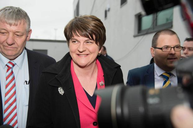 NI Assembly Election 2017 Count at Omagh Leisure Complex for West Tyrone and Fermanagh & South Tyrone constituencies. Arlene Foster, DUP arriving at the Omagh Leisure Complex for the results of the count. Picture by Trevor Lucy / Press Eye.