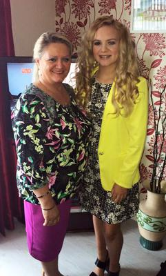 Ruth Daniels (59) with daughter Jodi-Lee (14)