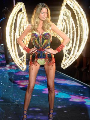 NEW YORK, NY - NOVEMBER 10:  Model and New Victoria's Secret Angel Martha Hunt from North Carolina walks the runway during the 2015 Victoria's Secret Fashion Show at Lexington Avenue Armory on November 10, 2015 in New York City.  (Photo by Jamie McCarthy/Getty Images)