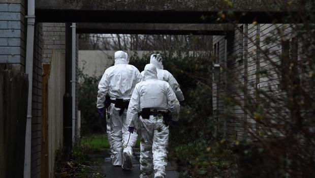 Police Forensics carry out searches in the Legahory area in Craigavon on Friday. Pic Colm Lenaghan/Pacemaker