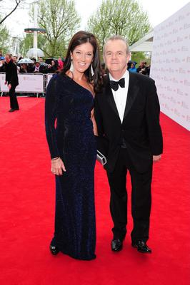 Victoria and Ian Hislop arriving for the 2013 Arqiva British Academy Television Awards at the Royal Festival Hall, London. PRESS ASSOCIATION Photo. Picture date: Sunday May 12, 2013. See PA story SHOWBIZ Bafta. Photo credit should read: Ian West/PA Wire