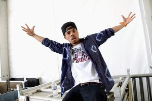 INDIO, CA - APRIL 13:  Singer Vic Mensa of Kids These Days poses backstage during during day 2 of the 2013 Coachella Valley Music & Arts Festival at the Empire Polo Club on April 13, 2013 in Indio, California.  (Photo by Jason Kempin/Getty Images for Coachella)
