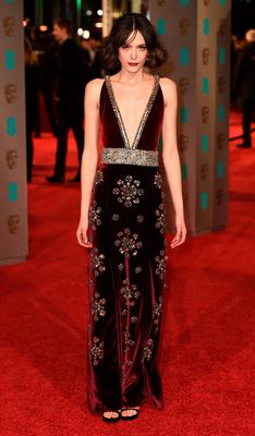 Stacy Martin attends the EE British Academy Film Awards at the Royal Opera House on February 14, 2016 in London, England.  (Photo by Ian Gavan/Getty Images)