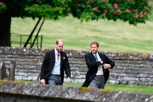 Britain's Prince Harry (R) and Britain's Prince William, Duke of Cambridge arrive at the church for the wedding of Pippa Middleton and James Matthews at St Mark's Church in Englefield, west of London, on May 20, 2017. Pippa Middleton hit the headlines with a figure-hugging outfit at her sister Kate's wedding to Prince William but now the world-famous bridesmaid is becoming a bride herself. Once again, all eyes will be on her dress as the 33-year-old marries financier James Matthews on Saturday at a lavish society wedding where William and Kate's children will play starring roles. / AFP PHOTO / POOL / Justin TALLISJUSTIN TALLIS/AFP/Getty Images