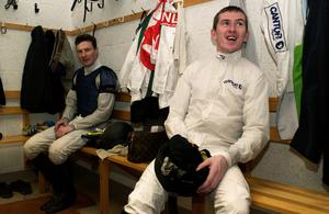 6 Mar 2002:   Tony McCoy relaxes in the changing room after returning On Dee after riding Java Sea to victory at Bangor in Wales. DIGITAL IMAGE Mandatory Credit: Julian Herbert/Getty Images