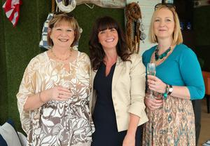 Margaret Lemon, Paula Stephens and Tara OConnor enjoy a little taste of Long Island luxury as The Merchant Hotel celebrated the American holiday, Independence Day, in its Hamptons themed rooftop garden.