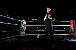 MANCHESTER, ENGLAND - FEBRUARY 23:  Scott Quigg poses during a public work out at Intu Trafford Centre on February 23, 2016 in Manchester, England.  (Photo by Jan Kruger/Getty Images)
