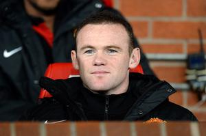 Manchester United's Wayne Rooney on the bench during the Capital One Cup, Fourth Round match at Old Trafford, Manchester.