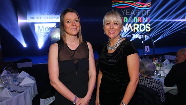 Press Eye - Belfast - Northern Ireland - 2nd February 2017 -    NI Year of Food & Drink Awards at the Culloden Hotel.  Sarah Little and Jackie Reid pictured at the NI Year of Food & Drink Awards at the Culloden Hotel.  Photo by Kelvin Boyes / Press Eye.