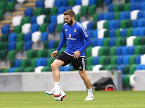 Press Eye - Belfast -  Northern Ireland - 06th September 2015  Photo by William Cherry  Northern Ireland's Stuart Dallas during Sundays training session at Windsor Park ahead of Monday nights Euro 2016 Qualifier against Hungary.