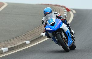 Pacemaker Belfast 13-5-17 North West 200 - Supersport race Sam West ( Kawasaki) during today's Supersport race at the North West 200 in Co Londonderry.  Photo by David Maginnis/Pacemaker Press