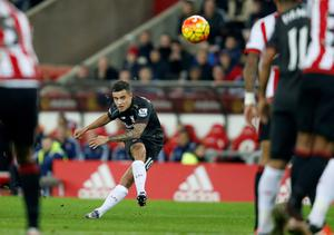 Liverpool's Philippe Coutinho in action during the Barclays Premier League match at the Stadium of Light, Sunderland. PA