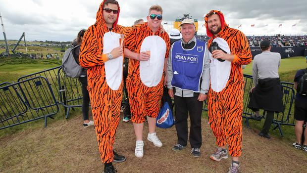 PressEye - Belfast - Northern Ireland - 20th July 2019  Pictured: Mike Liall, Martin Roberts, Roy Pritchard from New Zealand, and Freddie Buxton.  Picture: Philip Magowan / PressEye