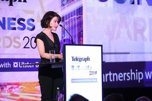 Press Eye - Belfast - Northern Ireland - 2nd May 2019 -   Margaret Canning pictured at the Belfast Telegraph Business Awards in association with Ulster Bank at the Crowne Plaza Hotel, Belfast. Photo by Kelvin Boyes / Press Eye.