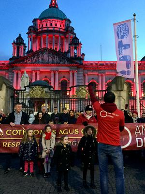 The Irish language is a key obstacle in the road to the return of powersharing (David Young/PA)