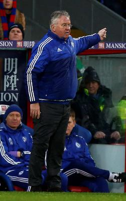 Chelsea's Dutch interim manager Guus Hiddink gestures during the English Premier League football match between Crystal Palace and Chelsea at Selhurst Park in south London on January 3, 2016. Chelsea won the game 3-0. AFP PHOTO / IKIMAGES  RESTRICTED TO EDITORIAL USE. NO USE WITH UNAUTHORIZED AUDIO, VIDEO, DATA, FIXTURE LISTS, CLUB/LEAGUE LOGOS OR 'LIVE' SERVICES. ONLINE IN-MATCH USE LIMITED TO 45 IMAGES, NO VIDEO EMULATION. NO USE IN BETTING, GAMES OR SINGLE CLUB/LEAGUE/PLAYER PUBLICATIONS.IKIMAGES/AFP/Getty Images