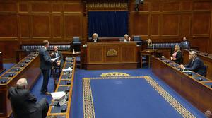 MLAs lined up to criticise the actions of the deputy First Minister.