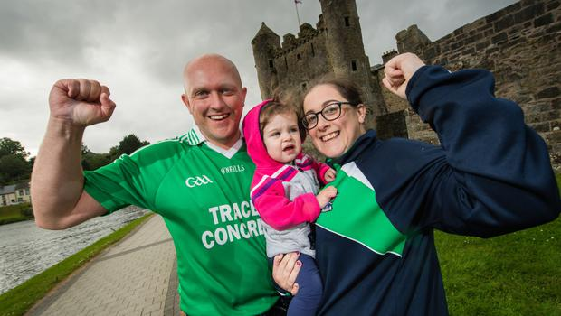 Shane, Cadhla and Julie Connolly are hoping for a Fermanagh win over Donegal in the Ulster Final.  Picture: Ronan McGrade.