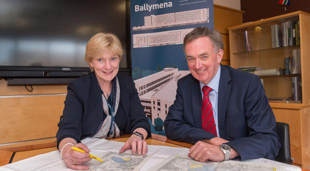 Professor Terri Scott from Northern Regional College and Bob McCann,chair of the college's governing body