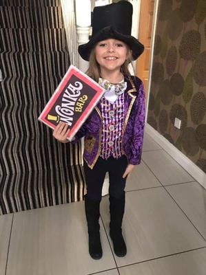 Lexi aged 8, from Carnmoney, as Willy Wonka.