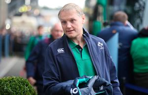 EDINBURGH, SCOTLAND - FEBRUARY 04: Joe Schmidt the coach of Ireland arrives prior to the RBS 6 Nations match between Scotland and Ireland at Murrayfield Stadium on February 4, 2017 in Edinburgh, Scotland. (Photo by Ian MacNicol/Getty Images)