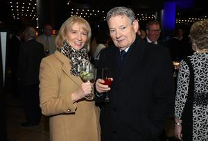 Press Eye - Belfast - Northern Ireland - 31st January 2019 -   Guests arrive on the red carpet as Tourism NI marked the start of the official build up to The 148th Open at Royal Portrush with a celebration of Northern Irish talent from sport, music, arts and screen at Titanic Belfast this evening. Pictured are Carmel and Noel McHale.   Visit https://youtu.be/KPPKRrsR-js to watch the cinematic film ÔWeÕve come a long wayÕ which was premiered on the night.    Photo by Kelvin Boyes / Press Eye.