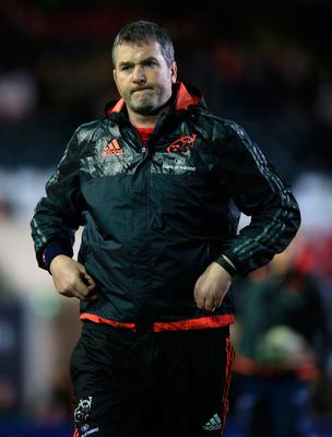 File photo dated 20/12/15 of Munster's head coach Anthony Foley, as rugby fans and members of the public are paying personal tributes to the former Ireland and Munster star. PRESS ASSOCIATION Photo. Issue date: Monday October 17, 2016. The 42-year-old head coach was found dead in the province's team hotel in Paris on Sunday, hours before the team were due to take to the pitch in the European Champions Cup. See PA story DEATH Foley. Photo credit should read: Mike Egerton/PA Wire