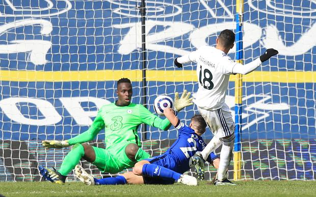 Edouard Mendy made a couple of important saves (Lindsey Parnaby/PA)