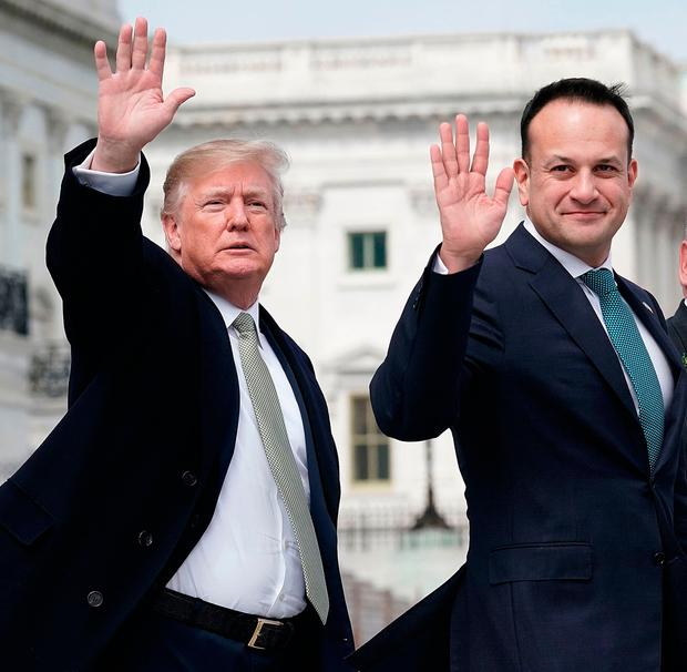 US President Donald Trump and Leo Varadkar during the Taoiseach's trip to the US earlier this year