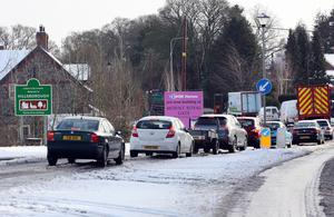 Picture by Freddie Parkinson/Press Eye ©  Traffic at a stand still in Hillsborough.