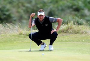 England's Ian Poulter on the fifth green during day three of the Dubai Duty Free Irish Open at Portstewart Golf Club. PRESS ASSOCIATION Photo. Picture date: Saturday July 8, 2017. See PA story GOLF Irish. Photo credit should read: Niall Carson/PA Wire. RESTRICTIONS: Editorial use only. No commercial use.