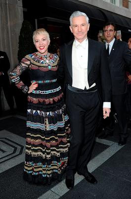 NEW YORK, NY - MAY 04:  Catherine Martin (L) and Baz Luhrmann depart The Mark Hotel for the Met Gala at the Metropolitan Museum of Art on May 4, 2015 in New York City.  (Photo by Andrew Toth/Getty Images for The Mark Hotel)