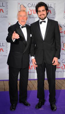 Sir Bruce Forsyth and his son Jonathan at the Butterfly Ball in Battersea Park, London. Fiona Hanson/PA Wire