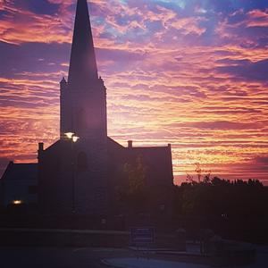 This photo was taken on October 4, 2016 at 7am in Letterkenny. It features Conwal parish church in the town'a beautiful and historic Cathedral quarter. Submitted by Cathal McGlynn