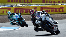 Out in front: Keith Farmer on his way to victory at Knockhill